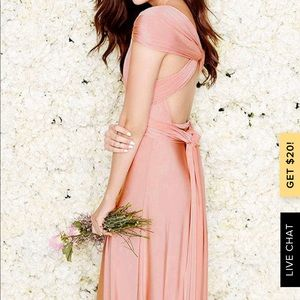 Lulu's Dresses - Lulus always stunning convertible maxi dress blush